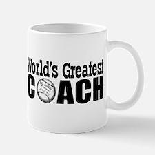 """""""World's Greatest Baseball Coach"""" Mug"""