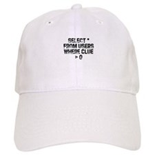 SELECT * FROM users WHERE clu Baseball Cap