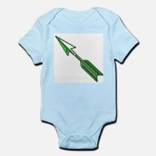 """Green Arrow"" Infant Creeper"