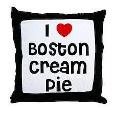 I * Boston Cream Pie Throw Pillow