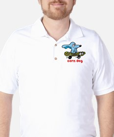 Corn dog on wheels Golf Shirt