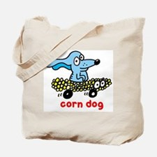 Corn dog on wheels Tote Bag
