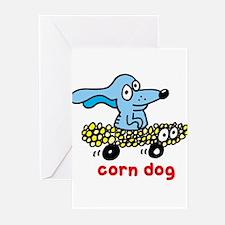 Corn dog on wheels Greeting Cards (Pk of 10)