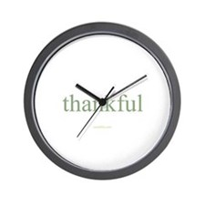 thankful Wall Clock
