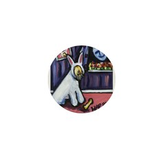 Soft Coated Wheaten Easter Bu Mini Button (100 pac