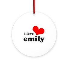 i love emily Ornament (Round)