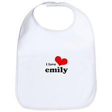i love emily Bib
