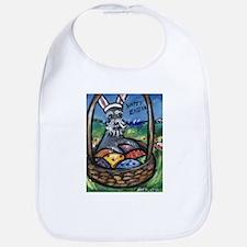 Schnauzer Easter Bunny Art Bib