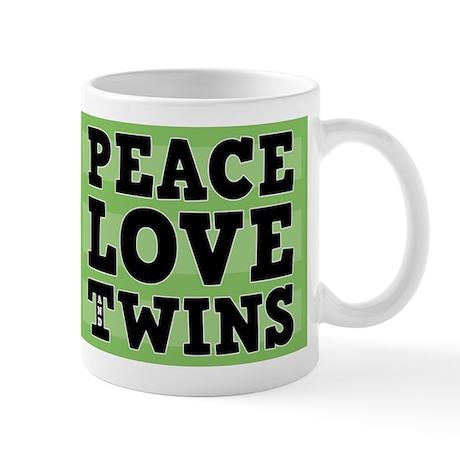 PEACE LOVE AND TWINS Mug