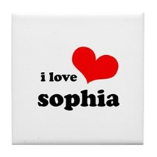 i love sophia Tile Coaster