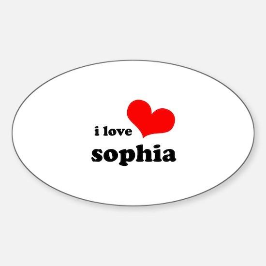 i love sophia Sticker (Oval)