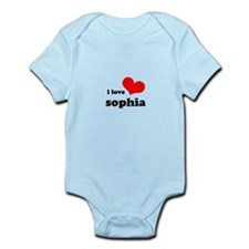 i love sophia Infant Bodysuit