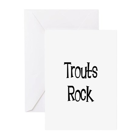 Trouts Rock Greeting Cards (Pk of 10)