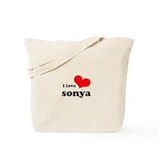 i love sonya Tote Bag