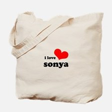 i love sonya Tote Bag