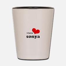i love sonya Shot Glass