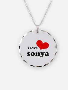 i love sonya Necklace