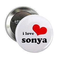 """i love sonya 2.25"""" Button"""