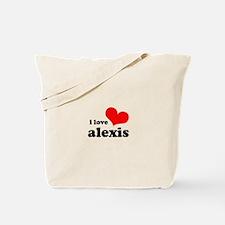 i love alexis Tote Bag