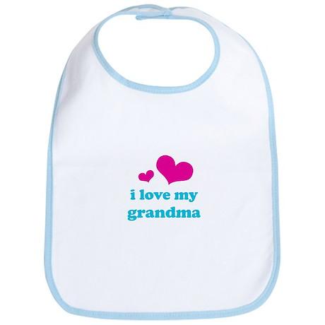 i love my grandma (pink/blue) Bib