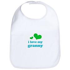 i love my granny (green/blue) Bib