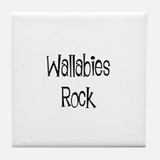 Wallabies Rock Tile Coaster