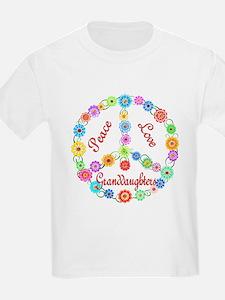 Peace Love Granddaughters T-Shirt