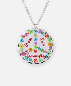 Peace Love Granddaughters Necklace