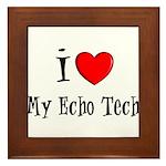 Cardiac Echo Tech Framed Tile