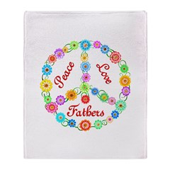 Peace Love Fathers Throw Blanket
