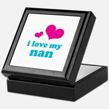 i love my nan (pink/blue) Keepsake Box