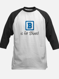 B Is For Blues Kids Baseball Jersey