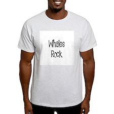 Whales Rock Ash Grey T-Shirt