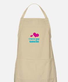 i love my uncle (pink/blue) Apron