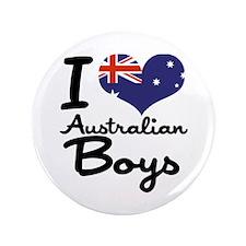 "I Heart Australian Boys 3.5"" Button (100 pack)"