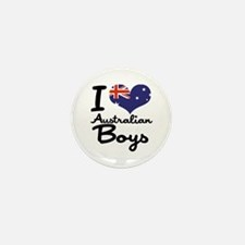 I Heart Australian Boys Mini Button (10 pack)