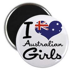I Heart Australian Girls Magnet