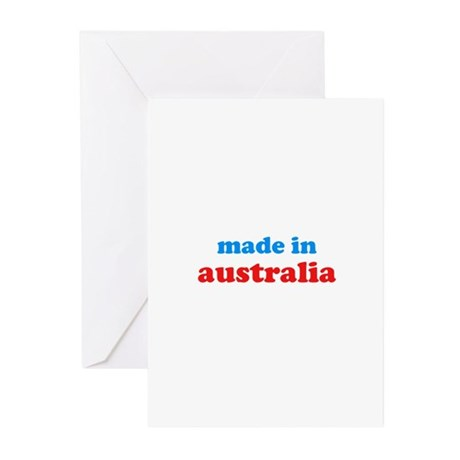 made in australia (blue/red) Greeting Cards (Pk of
