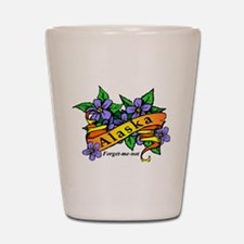 Funny Forget me not flowers Shot Glass