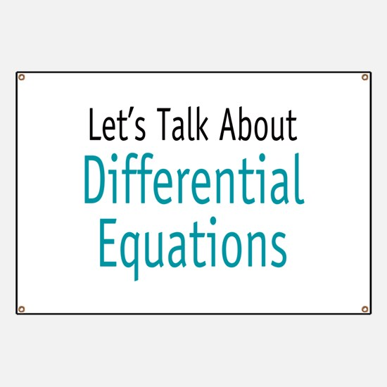 Differential Equation Banner