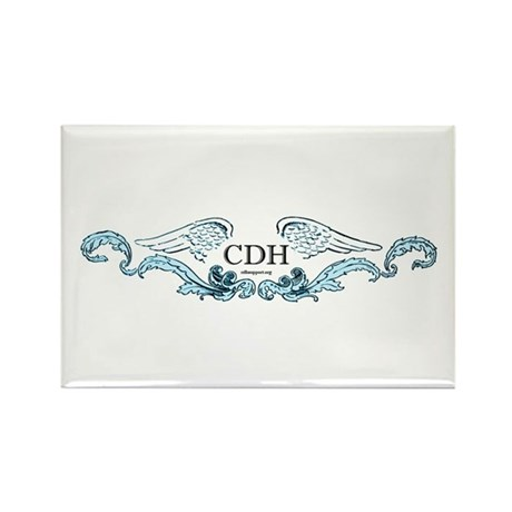 Turquoise CDH Awareness Wings Rectangle Magnet (10