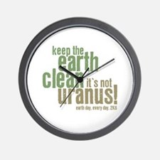 Earth Day - Keep the Earth clean Wall Clock
