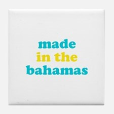 made in the bahamas (blue/yel Tile Coaster