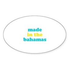 made in the bahamas (blue/yel Decal