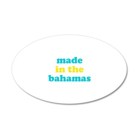 made in the bahamas (blue/yel 22x14 Oval Wall Peel