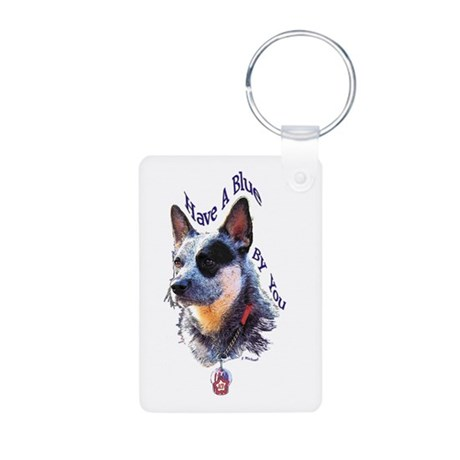 """""""Blue By You"""" Aluminum Photo Keychain"""