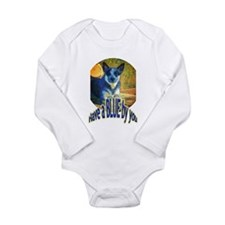 """Blue By You"" Long Sleeve Infant Bodysuit"