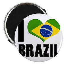 """I Heart Brazil 2.25"""" Magnet (10 pack)"""