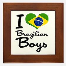 I Heart Brazilian Boys Framed Tile