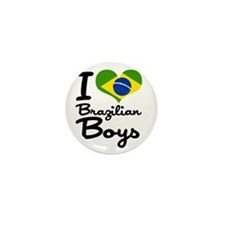 I Heart Brazilian Boys Mini Button